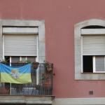 Flaga Barcelonety – dzielnicy Barcelony położonej tuż nad morzem