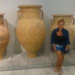 Pitos służył do przechowywania wody,oliwy lub ziarna. Mógł mierzyć nawet 2 metry.. Muzeum Archeologiczne, Heraklion