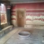 Sala Tronowa pałacu w Knossos (o ile Arthur Evans się nie mylił)